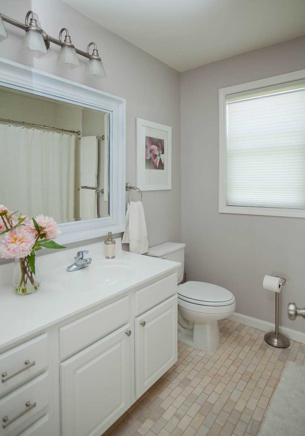 Bathroom with Peonies