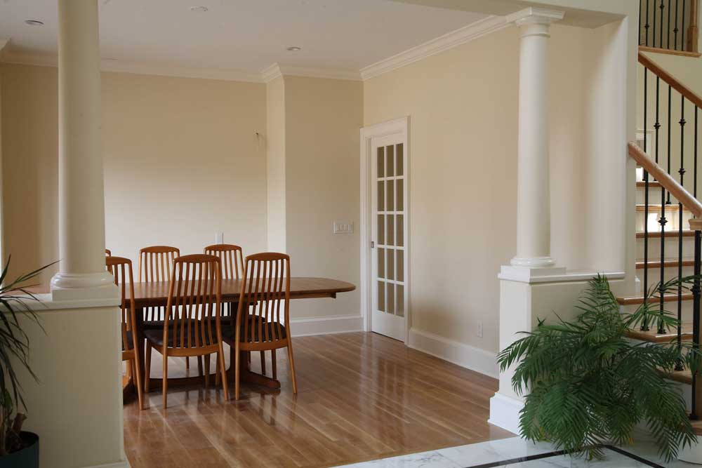 Dining Room with Column