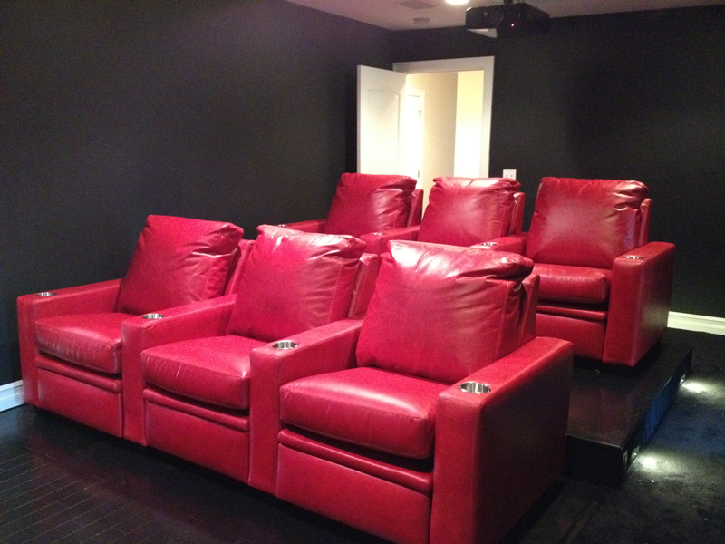 Red TV Room